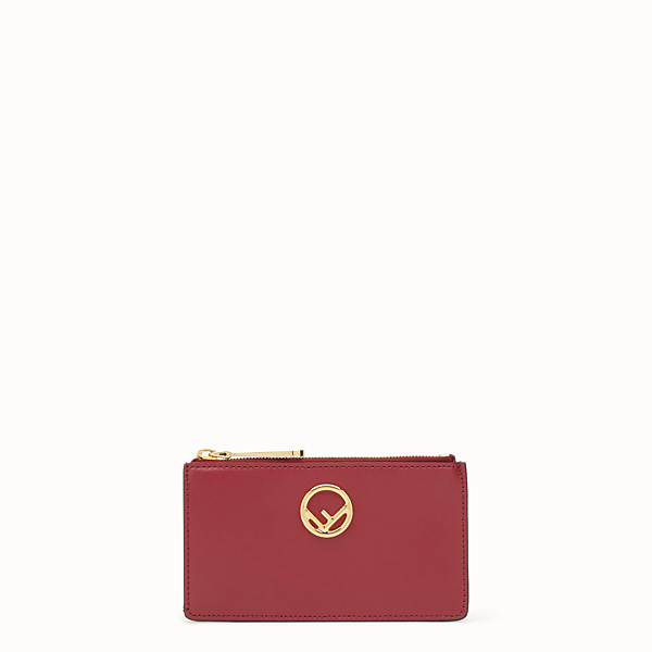 FENDI CARD POUCH - Red leather pouch - view 1 small thumbnail