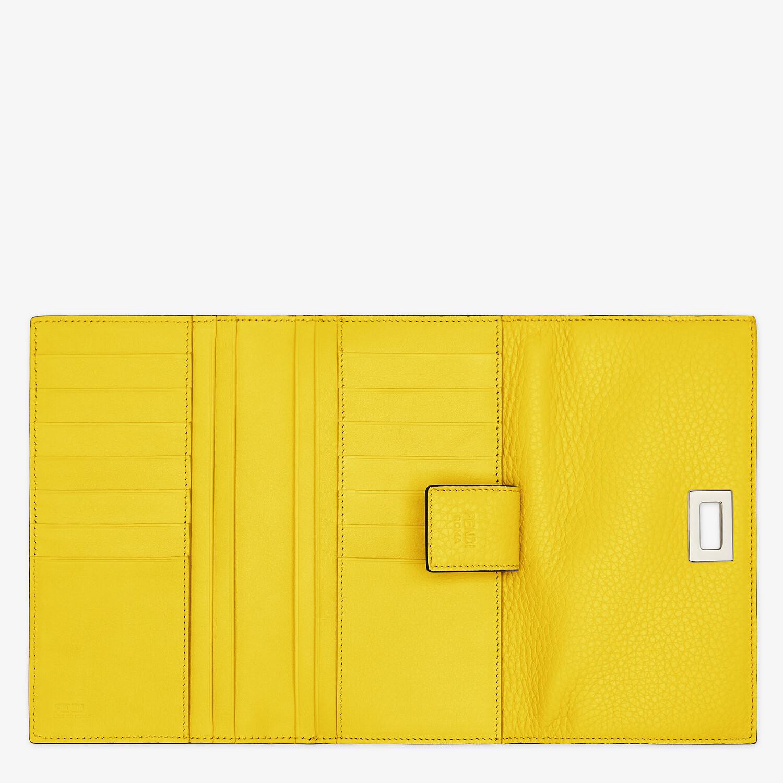 FENDI 三つ折り財布 - イエローレザー 財布 - view 4 detail
