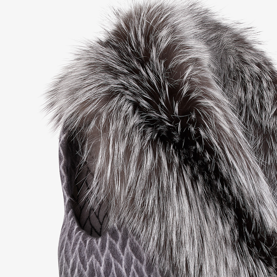 FENDI GILET - Black wool gilet - view 3 detail