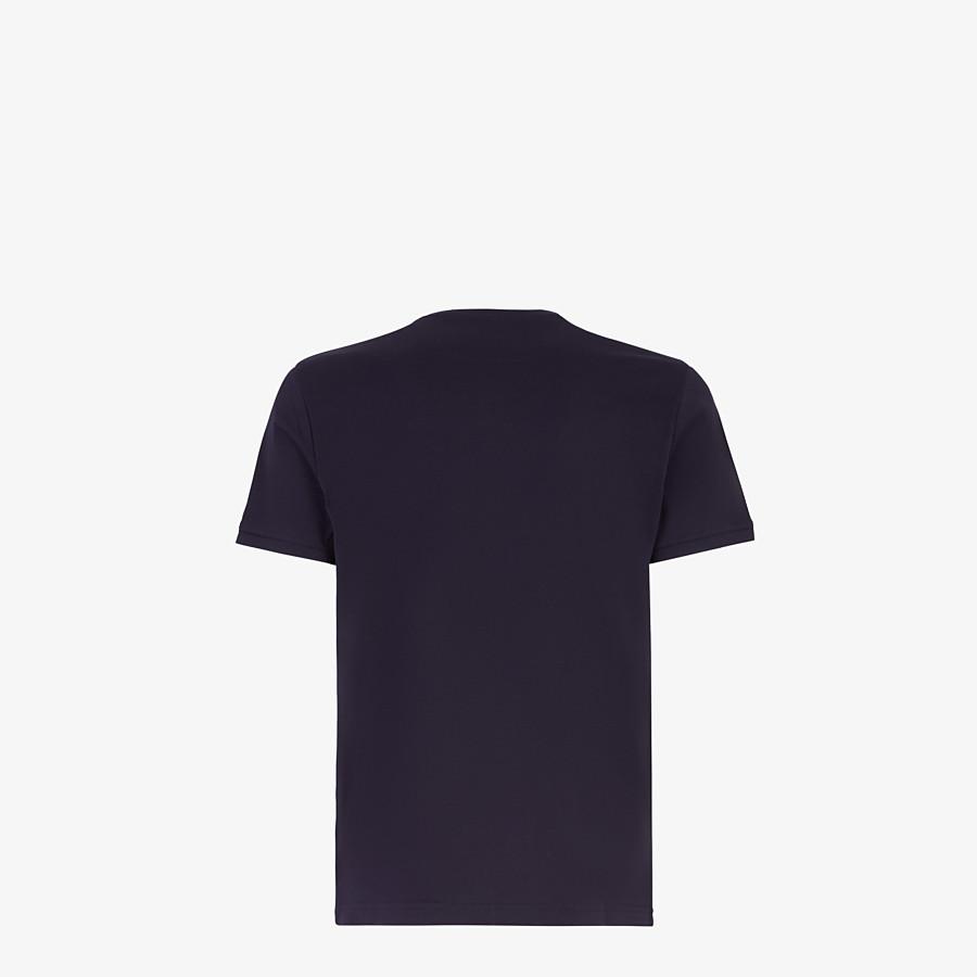 FENDI T-SHIRT - T-Shirt aus blauer Baumwolle - view 2 detail