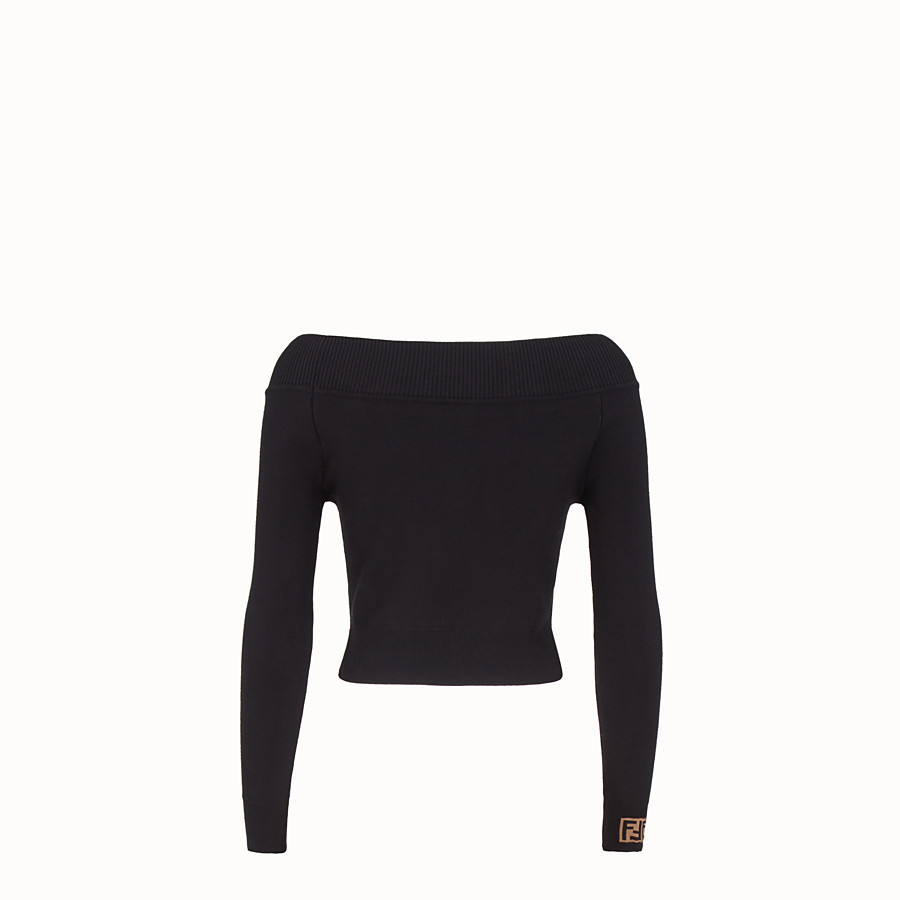 FENDI PULLOVER - Black fabric jumper - view 2 detail