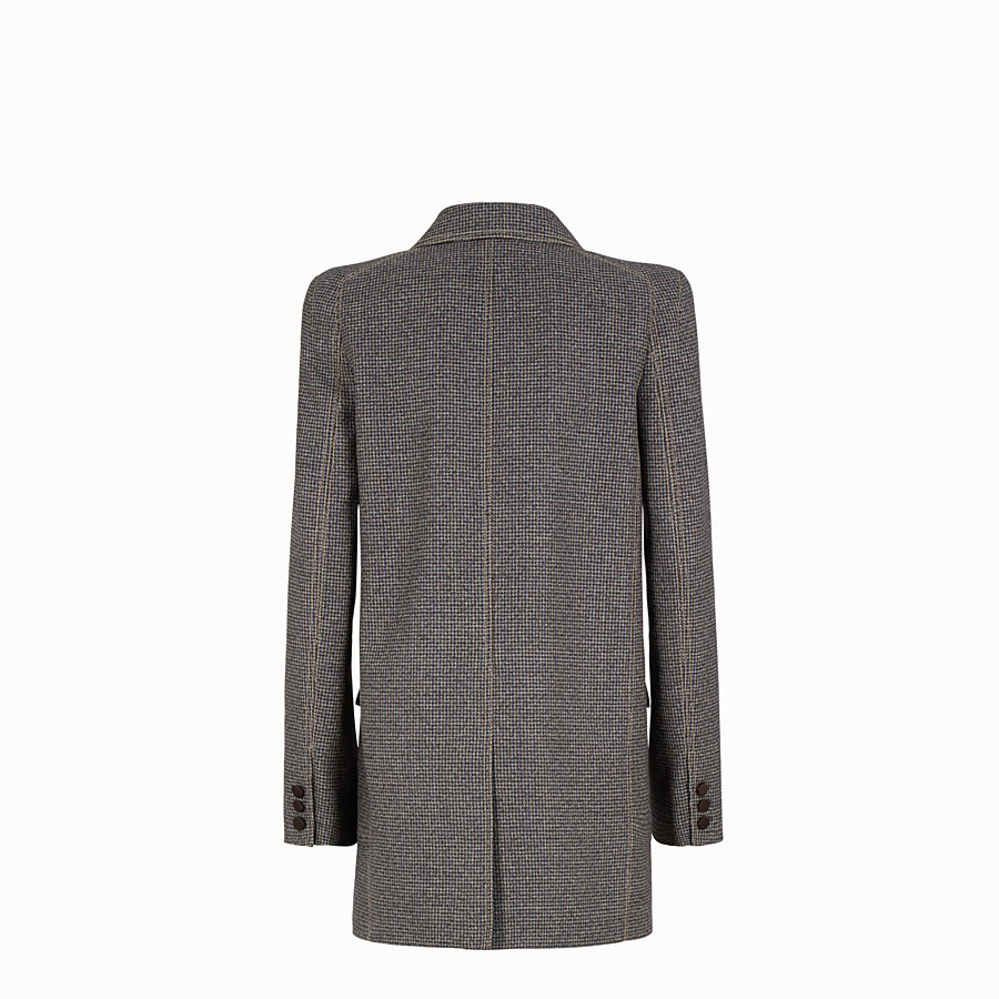 FENDI JACKET - Micro-check wool blazer - view 2 detail