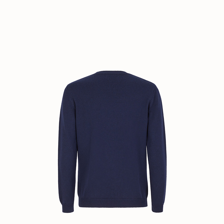 FENDI JUMPER - Blue wool jumper - view 2 detail