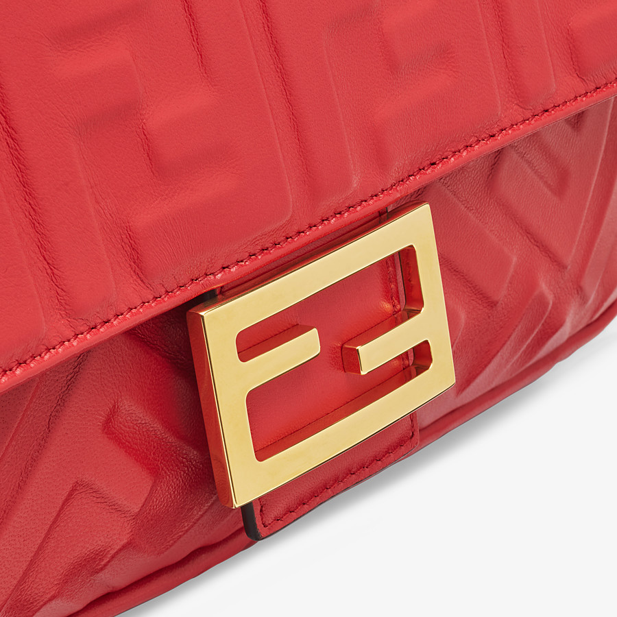 FENDI BAGUETTE - Red leather bag - view 6 detail