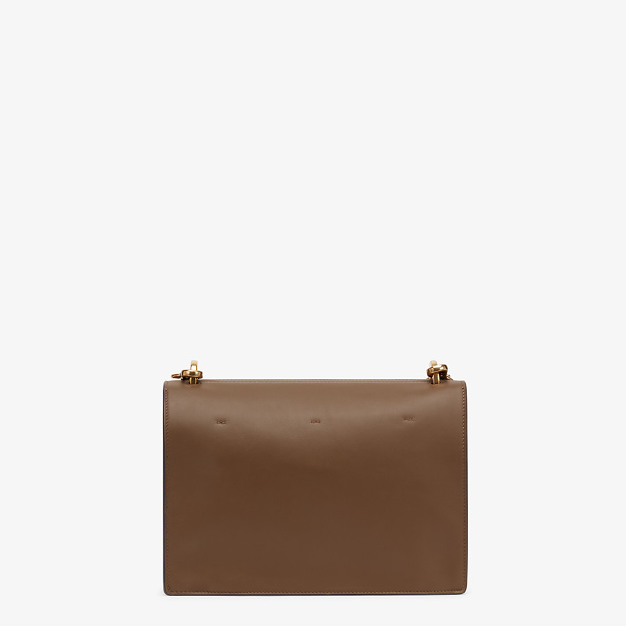 FENDI KAN U - Brown leather bag - view 4 detail