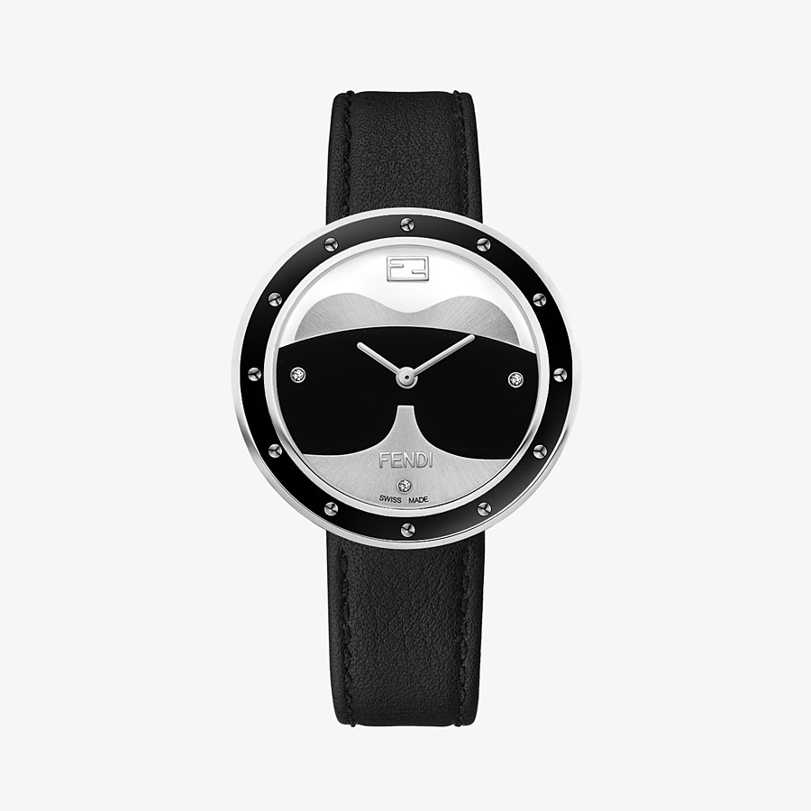 FENDI Fendi My Way Karlito - 36 mm - Watch with studs and fur Glamy - view 1 detail