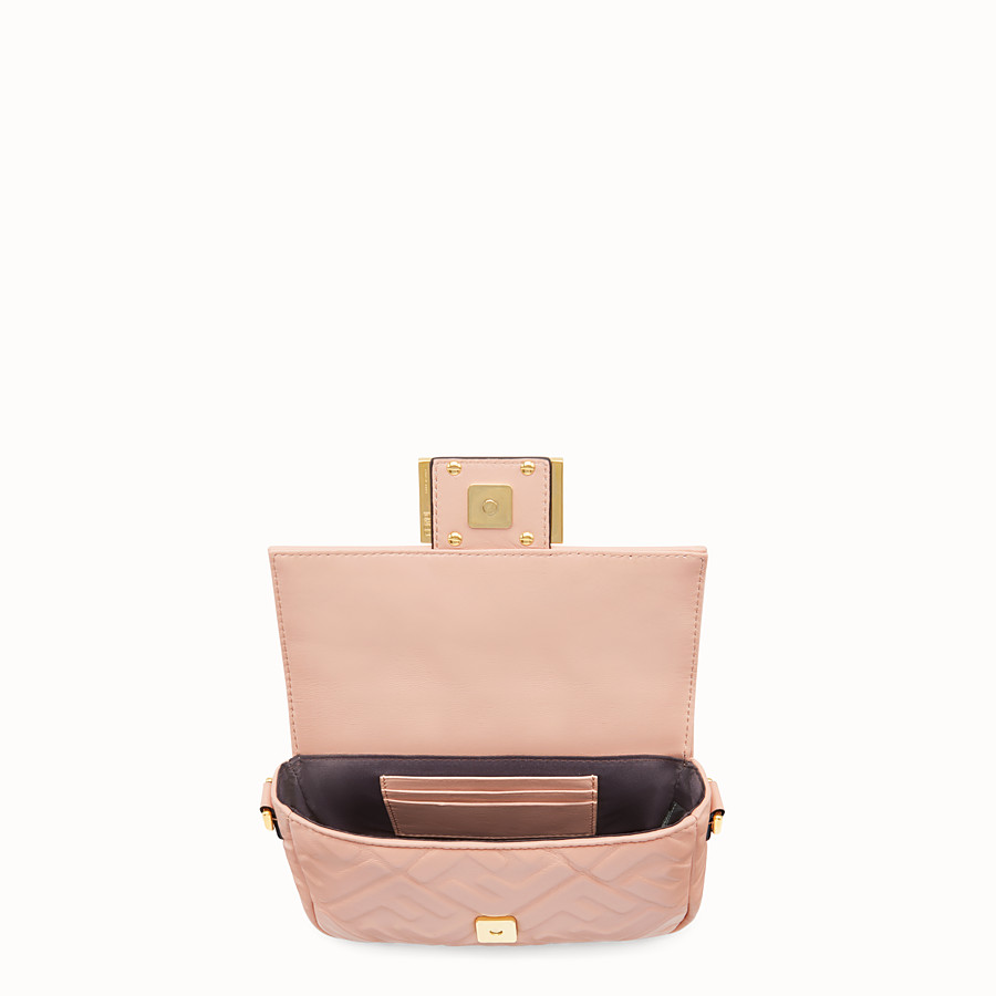 FENDI BAGUETTE - Pink nappa leather bag - view 5 detail