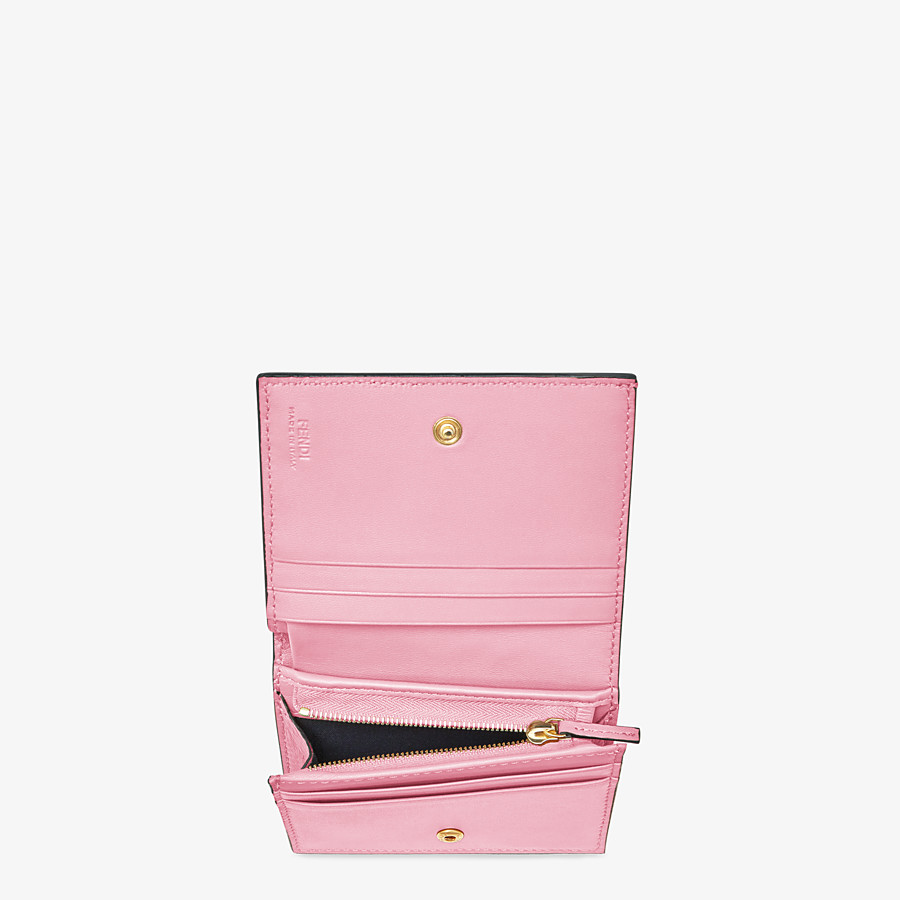 FENDI SMALL WALLET - Pink nappa leather wallet - view 3 detail