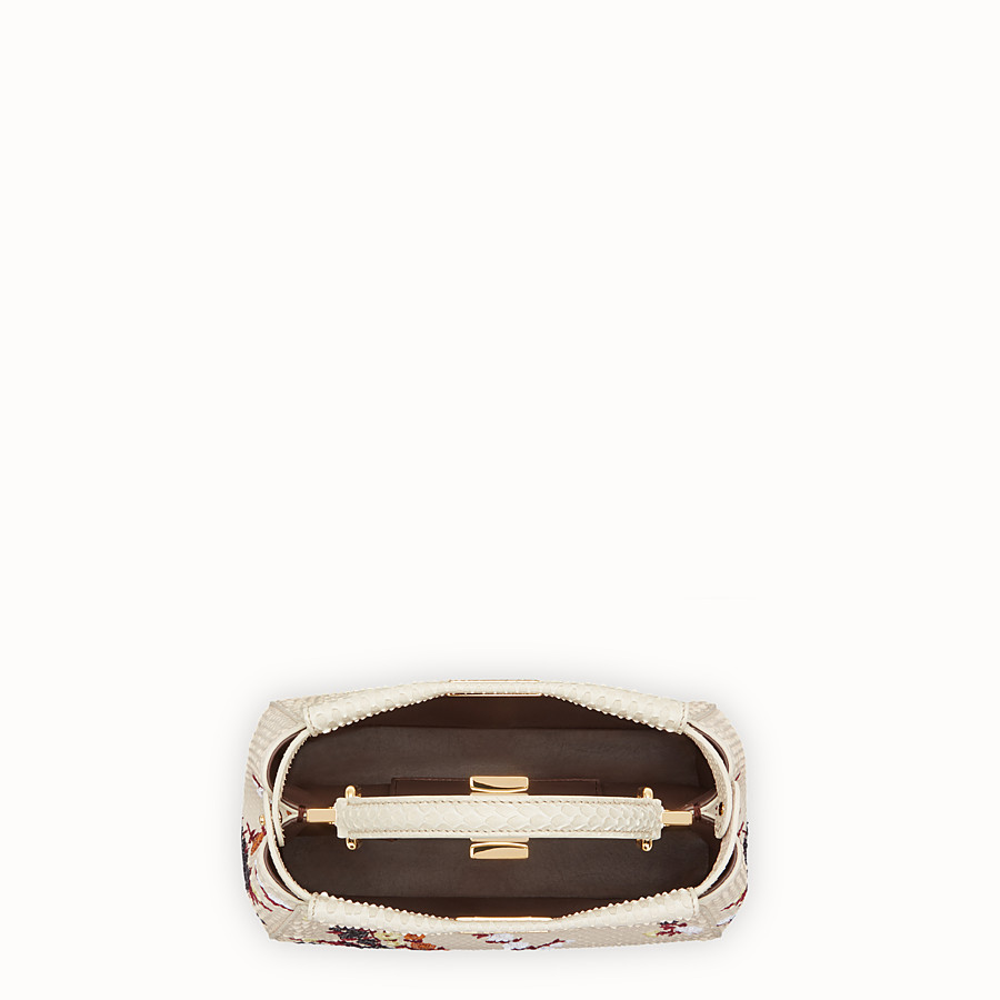 FENDI PEEKABOO MINI - White python bag - view 4 detail