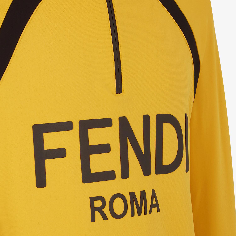 FENDI SWEATSHIRT - Yellow tech fabric sweatshirt - view 3 detail