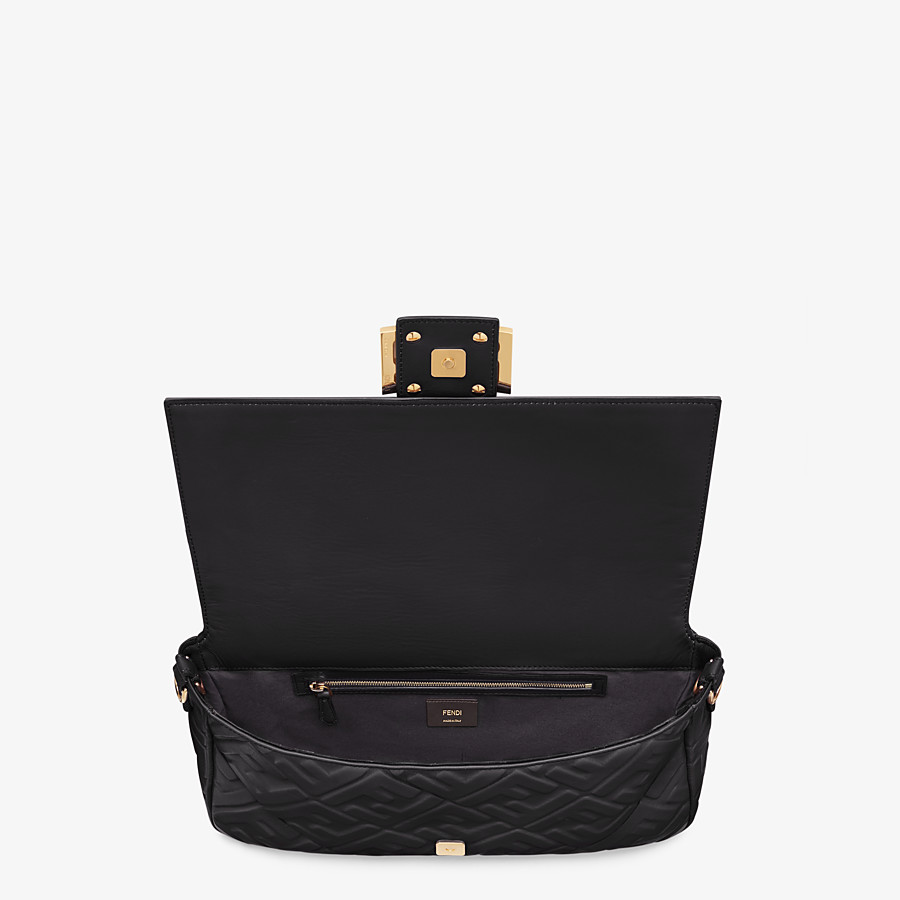 FENDI BAGUETTE LARGE - Black leather bag - view 5 detail