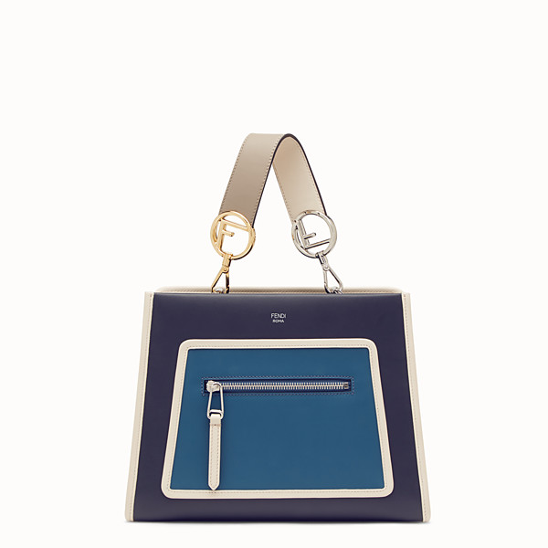 FENDI RUNAWAY SMALL - Sac en cuir bleu - view 1 small thumbnail