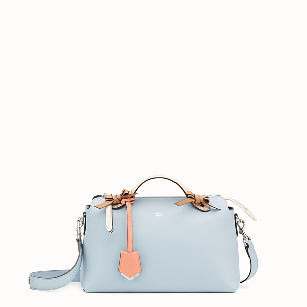 FENDI BY THE WAY REGULAR - Light blue leather Boston bag - view 1 small thumbnail