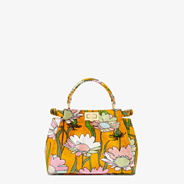 FENDI PEEKABOO ICONIC MINI - Orange chenille bag - view 4 thumbnail