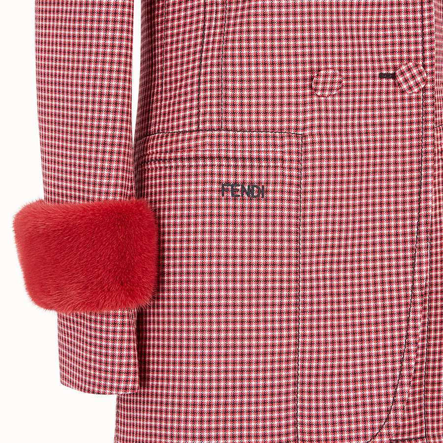 FENDI JACKET - Red wool jacket - view 3 detail