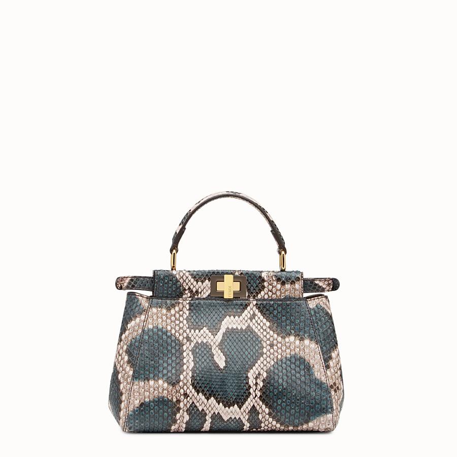 FENDI MINI PEEKABOO - Two-tone python handbag - view 3 detail