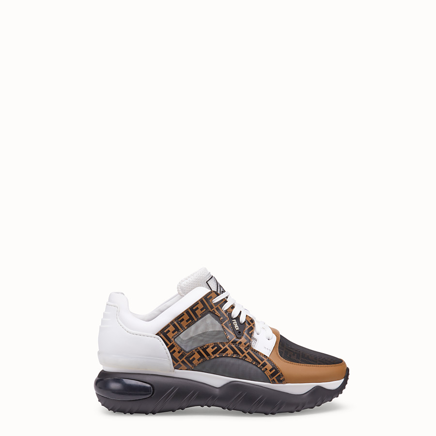 Sneaker In Low Pelle Multicolor Top Fendi 1I6qqpAwx
