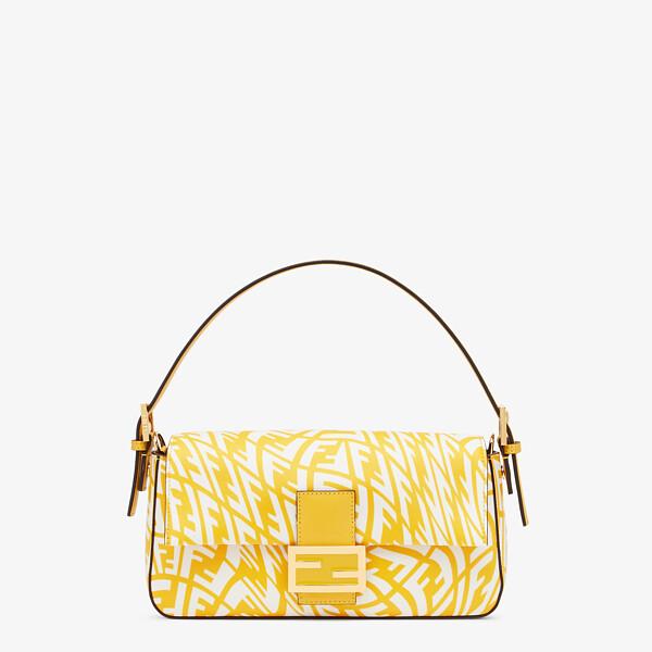Yellow glazed canvas bag