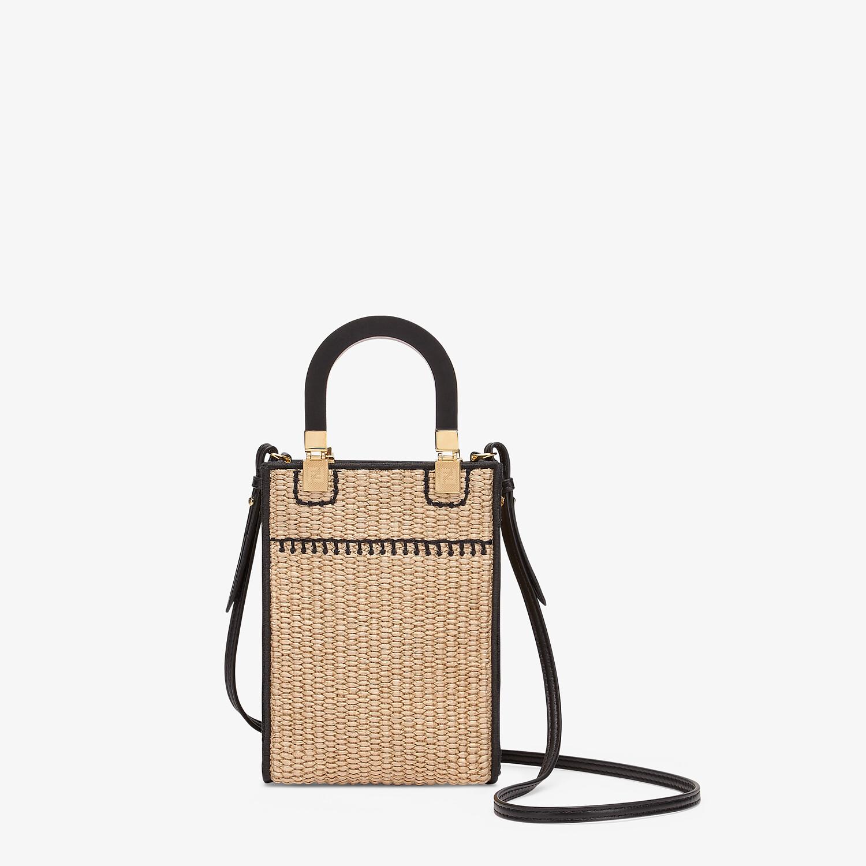 FENDI MINI SUNSHINE SHOPPER - Braided straw mini-bag - view 4 detail
