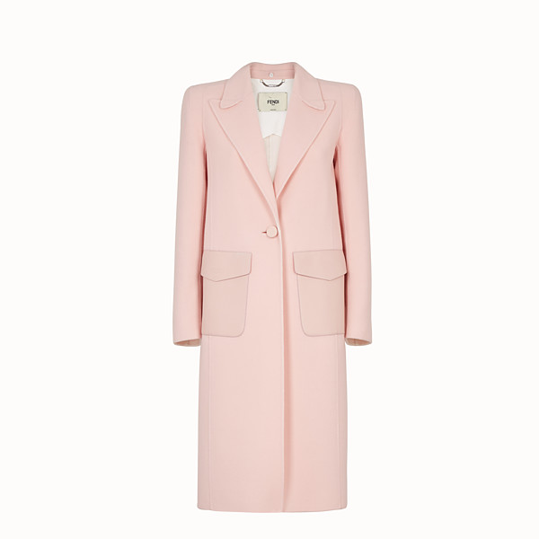 FENDI OVERCOAT - Pink wool overcoat - view 1 small thumbnail