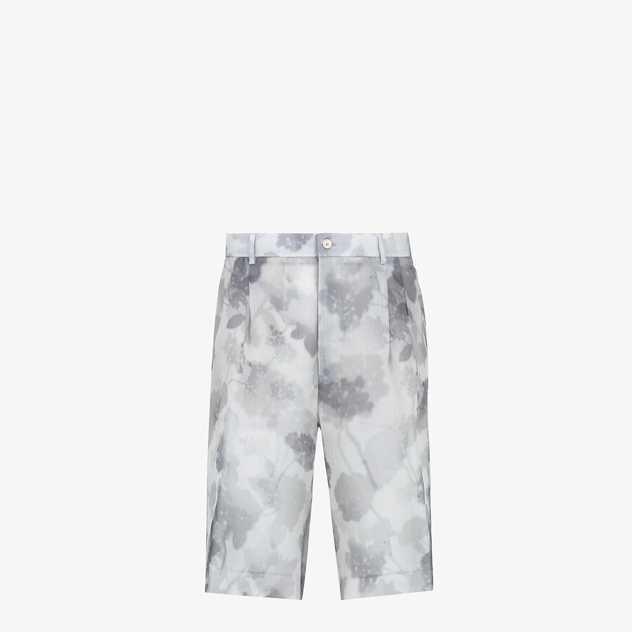 FENDI BERMUDAS - Natural organza trousers - view 1 detail