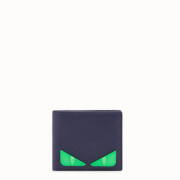 FENDI WALLET - Blue Romano leather bi-fold wallet - view 1 small thumbnail