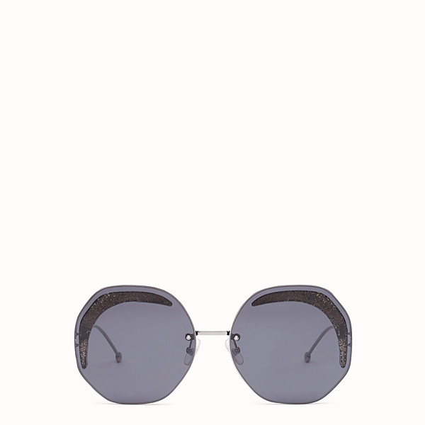 FENDI FENDI GLASS - Ruthenium-coloured sunglasses - view 1 small thumbnail