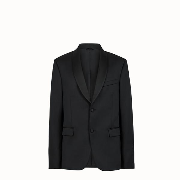 FENDI GIACCA - Blazer in cotone nero - vista 1 thumbnail piccola