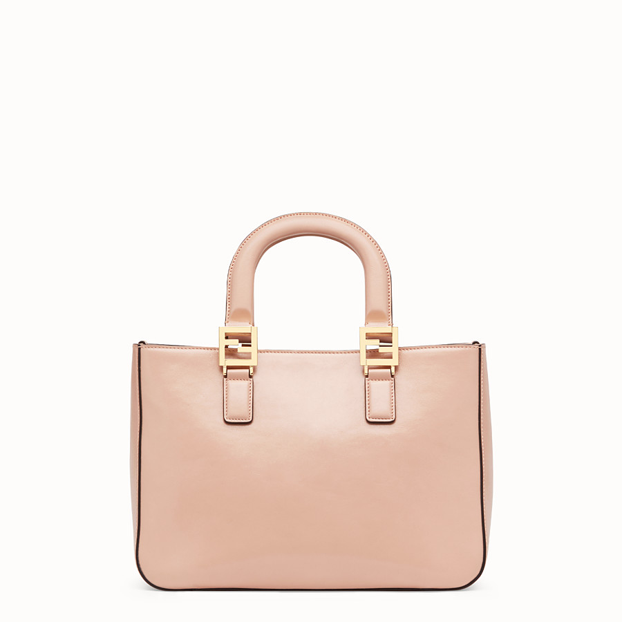FENDI FF TOTE SMALL - Pink leather bag - view 4 detail
