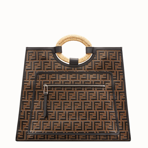 FENDI RUNAWAY SHOPPER - Multicolor leather shopper - view 1 small thumbnail