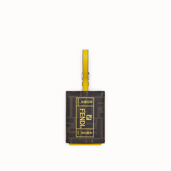 FENDI ADDRESS CARD - Yellow PU travel tag - view 1 small thumbnail