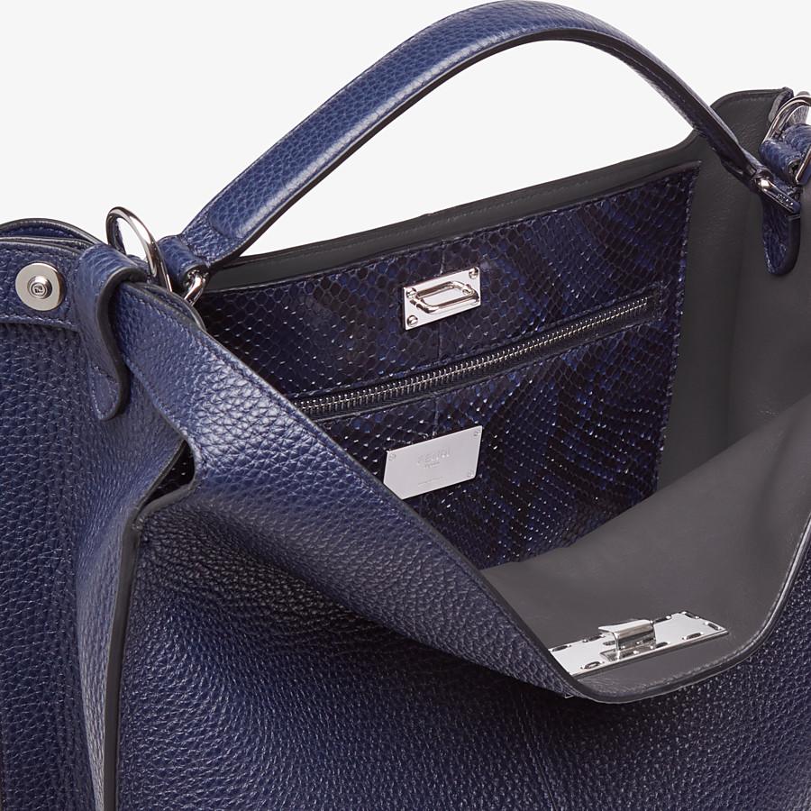 FENDI PEEKABOO X-LITE FIT - Blue calf leather bag - view 6 detail