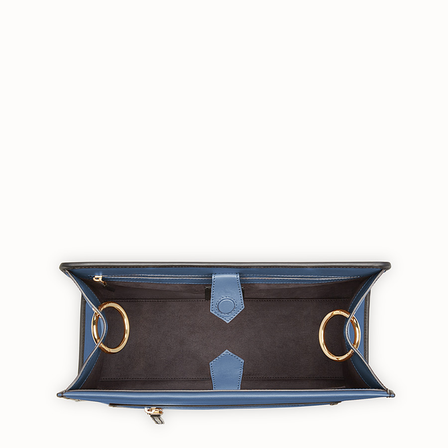 FENDI RUNAWAY REGULAR - Blue leather bag - view 4 detail