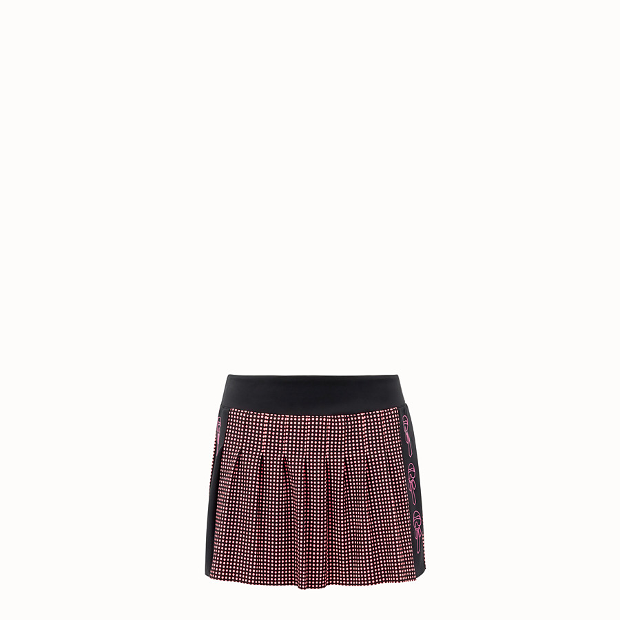 FENDI SKIRT - Black and pink tech fabric skirt - view 1 detail