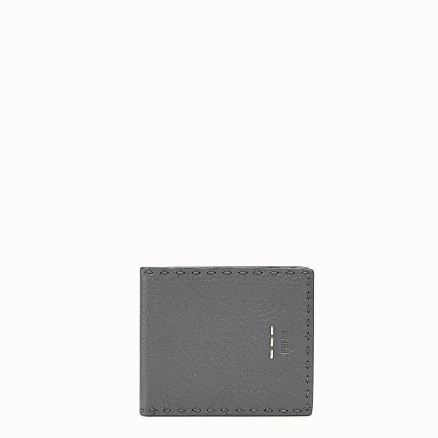 FENDI WALLET - Grey Roman leather horizontal wallet - view 1 detail
