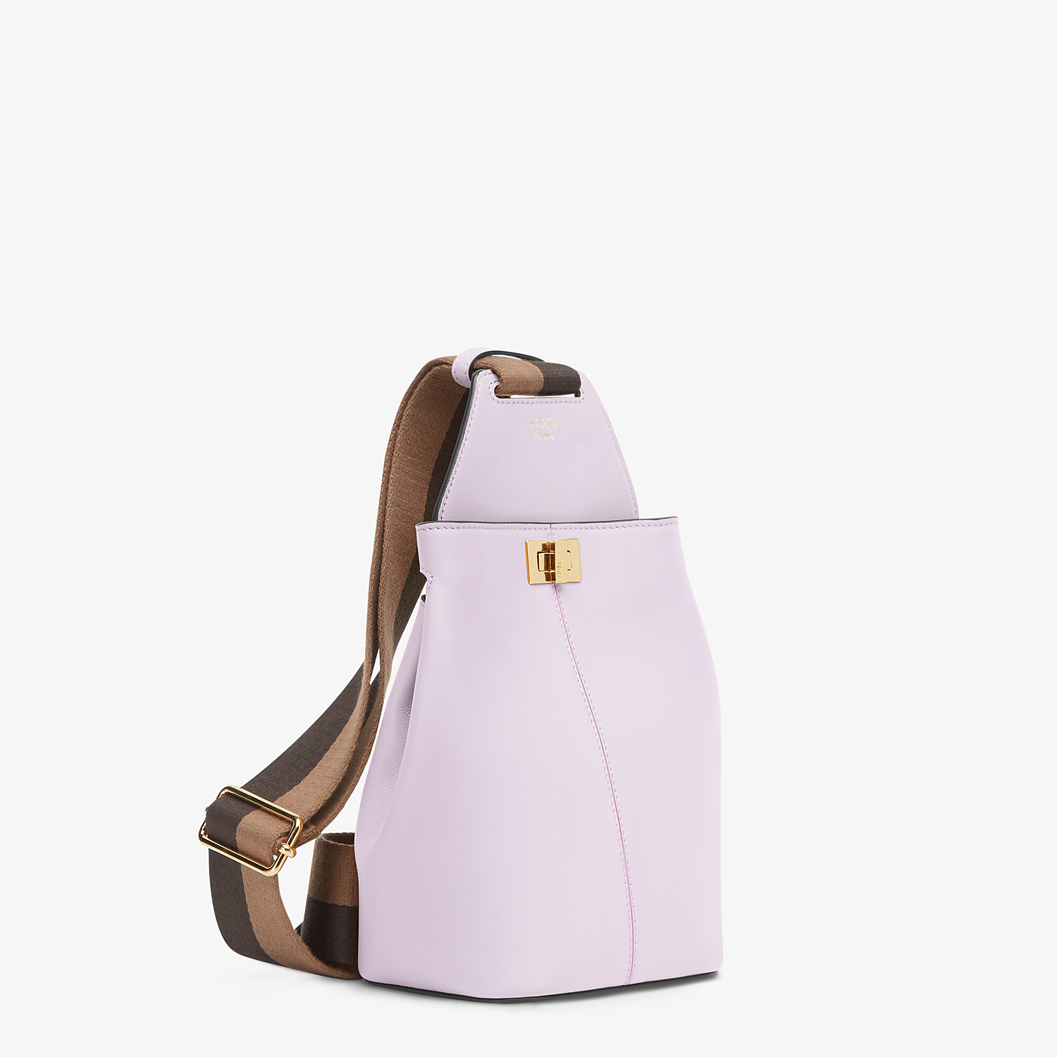 FENDI GUITAR BAG - Lilac leather mini-bag - view 2 detail