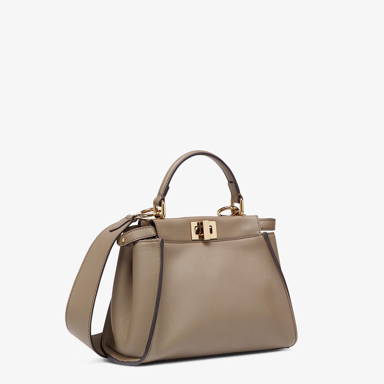 FENDI PEEKABOO MINI - Grey leather bag - view 3 detail