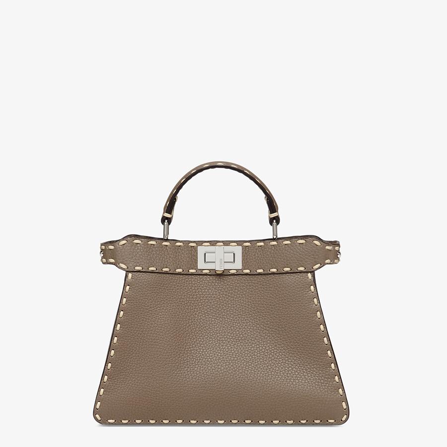 FENDI PEEKABOO ISEEU SMALL - Gray full grain leather bag - view 1 detail