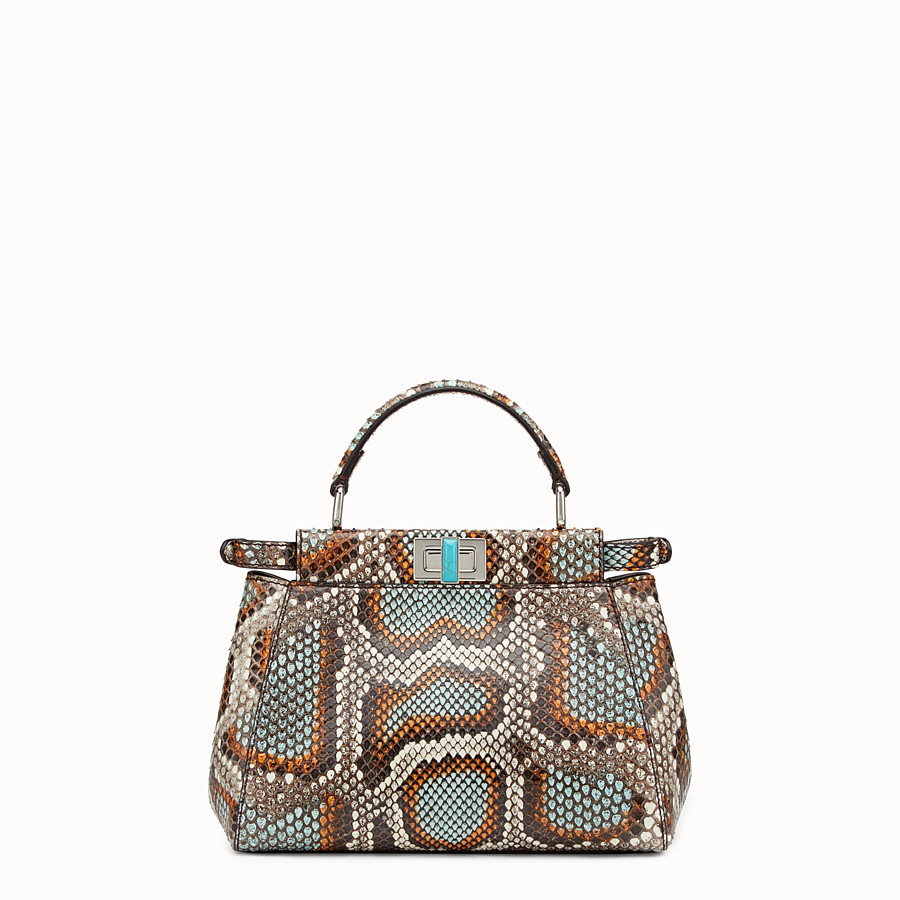 FENDI PEEKABOO MINI - Multicolour python handbag - view 1 detail
