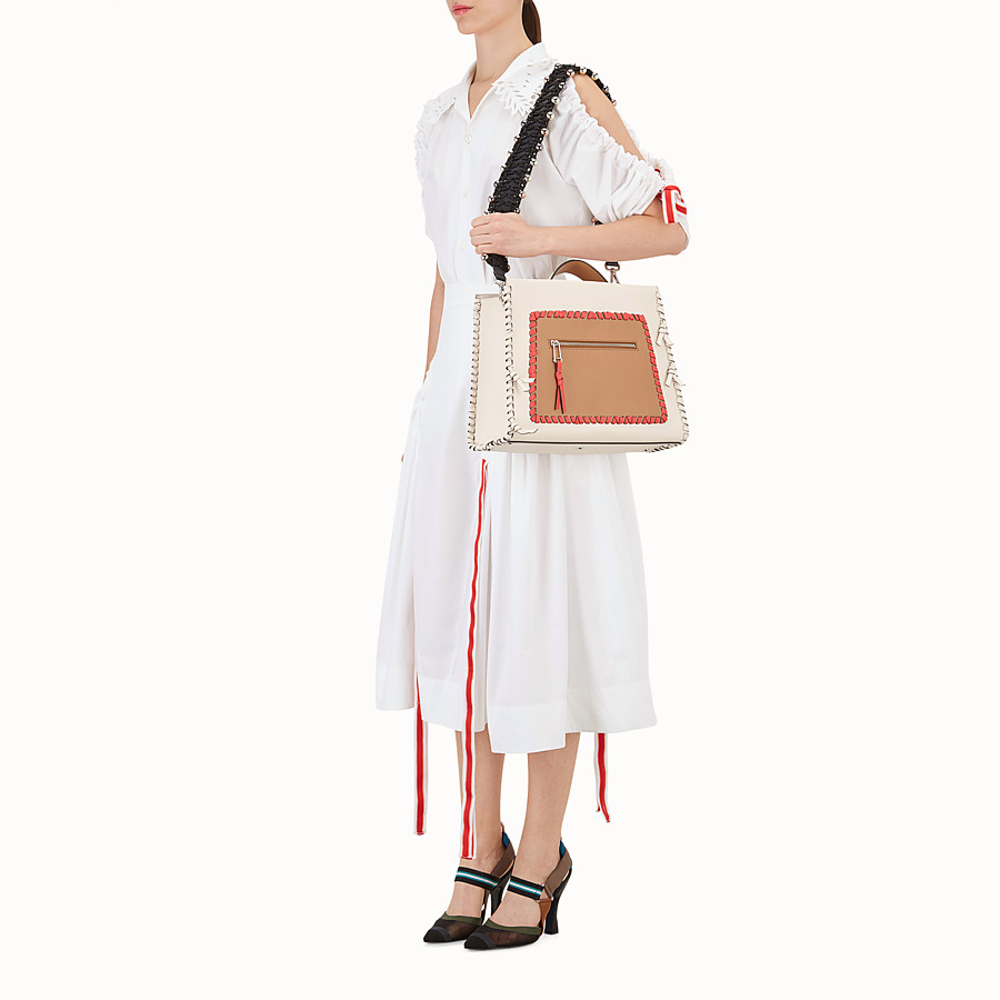 FENDI STRAP YOU - Leather and fabric shoulder strap - view 3 detail