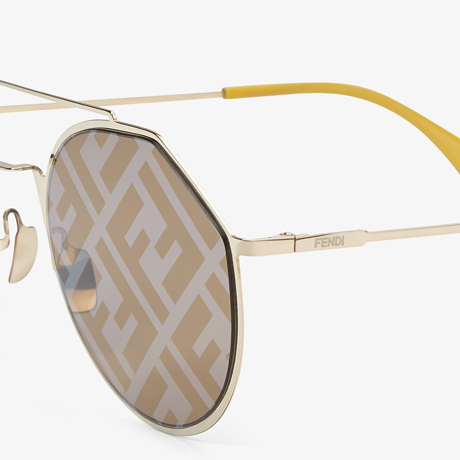 FENDI EYELINE - Yellow sunglasses - view 3 detail