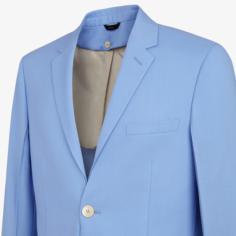 FENDI JACKET - Light blue wool blazer - view 4 detail
