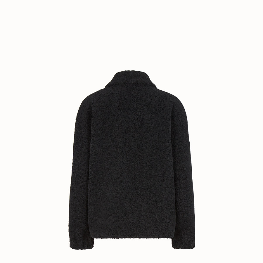 FENDI JACKET - Black sheepskin jacket - view 2 detail