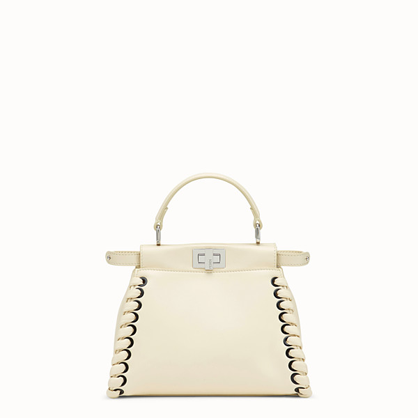 FENDI PEEKABOO MINI - White leather bag - view 1 small thumbnail