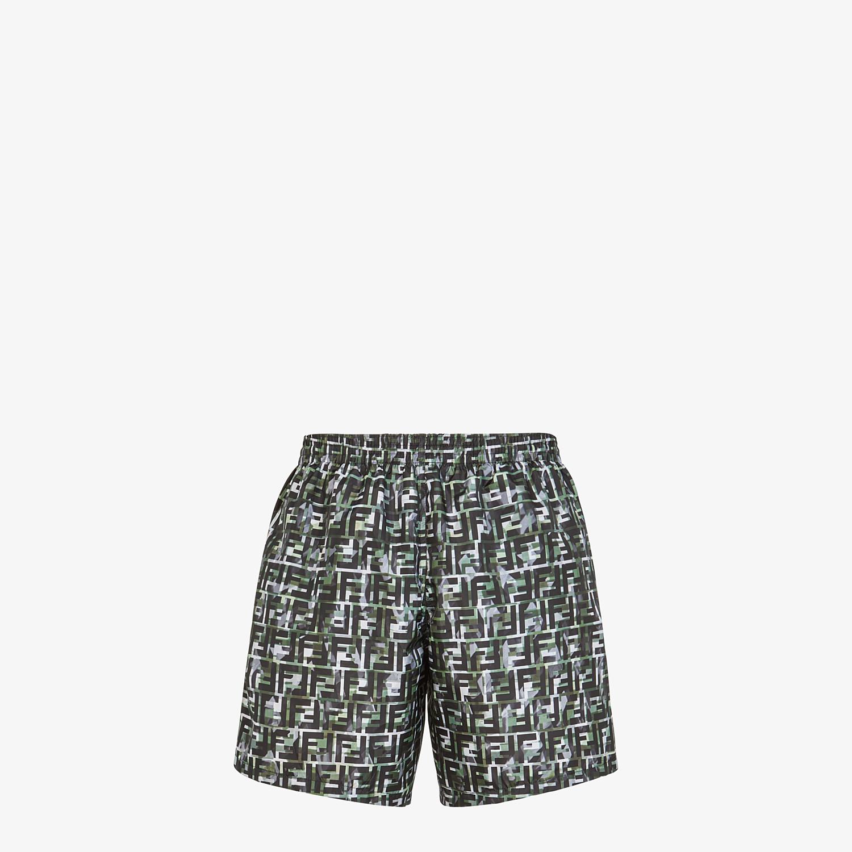 FENDI SWIM SHORTS - Multicolor tech fabric shorts - view 2 detail