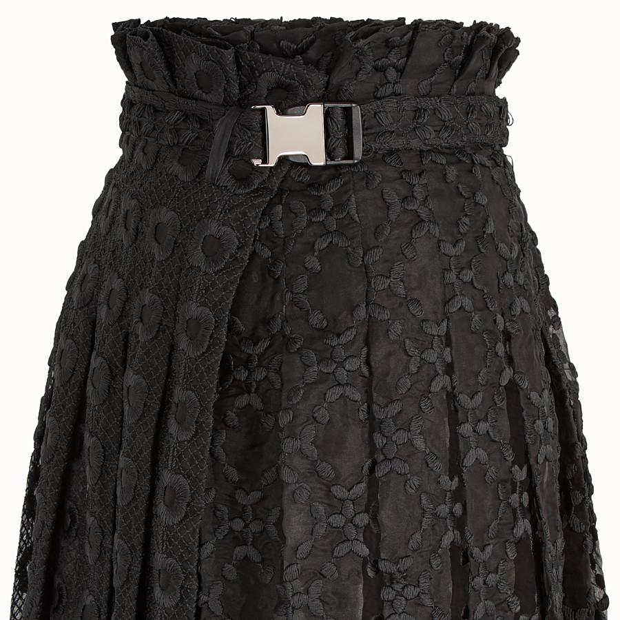 FENDI SKIRT - Black organza skirt - view 3 detail