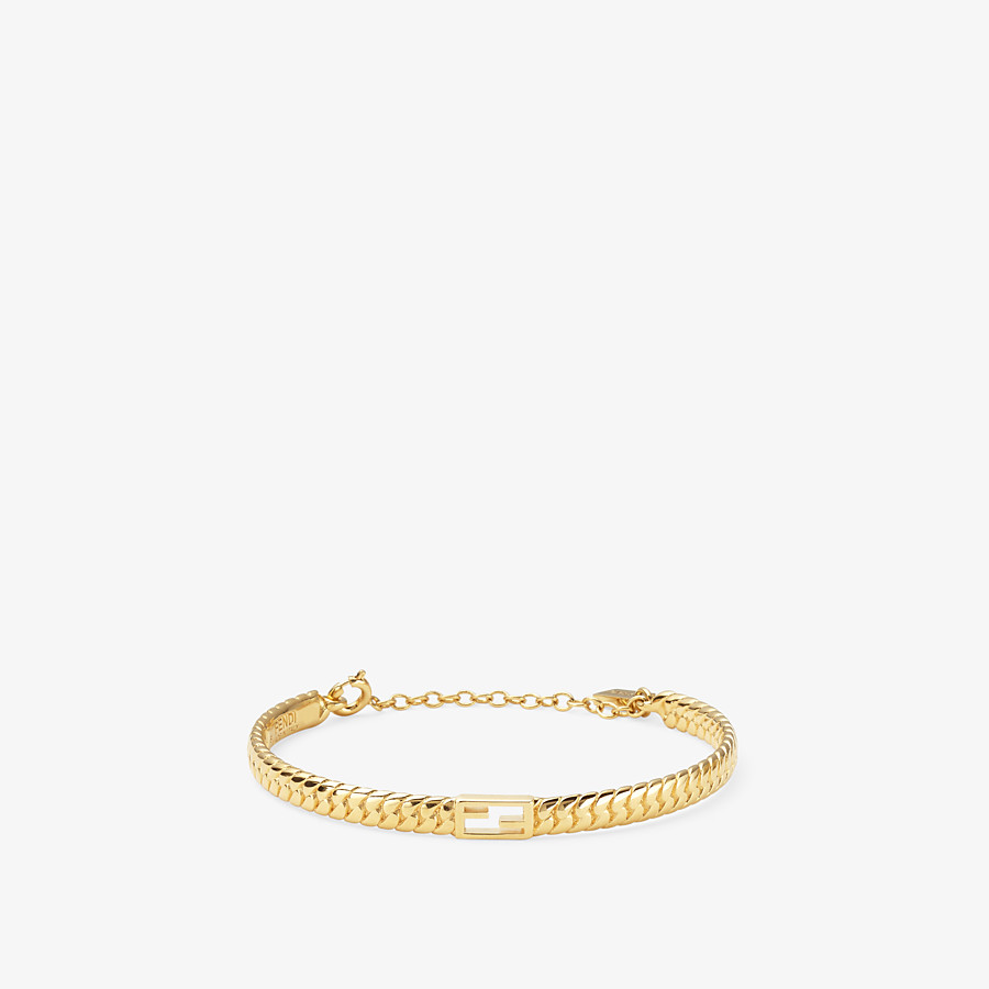FENDI BAGUETTE BRACELET MEDIUM - Gold-color bracelet - view 1 detail