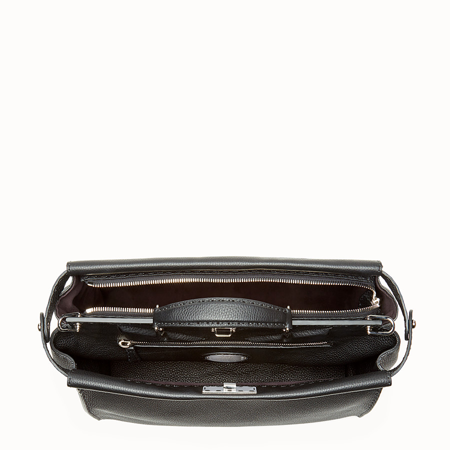 FENDI PEEKABOO REGULAR - in black Roman leather - view 4 detail