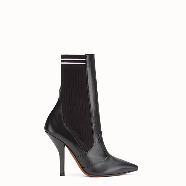FENDI BOOTS - Black leather boots - view 1 small thumbnail