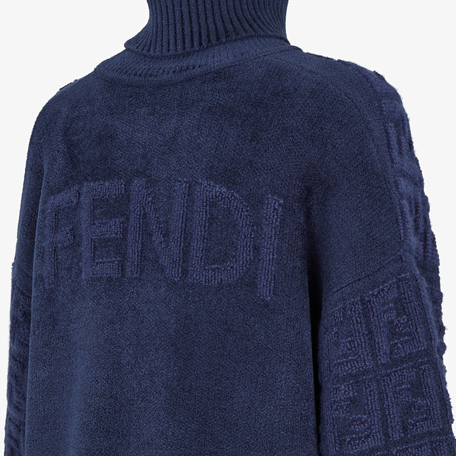 FENDI SWEATER - Blue mohair sweater - view 3 detail